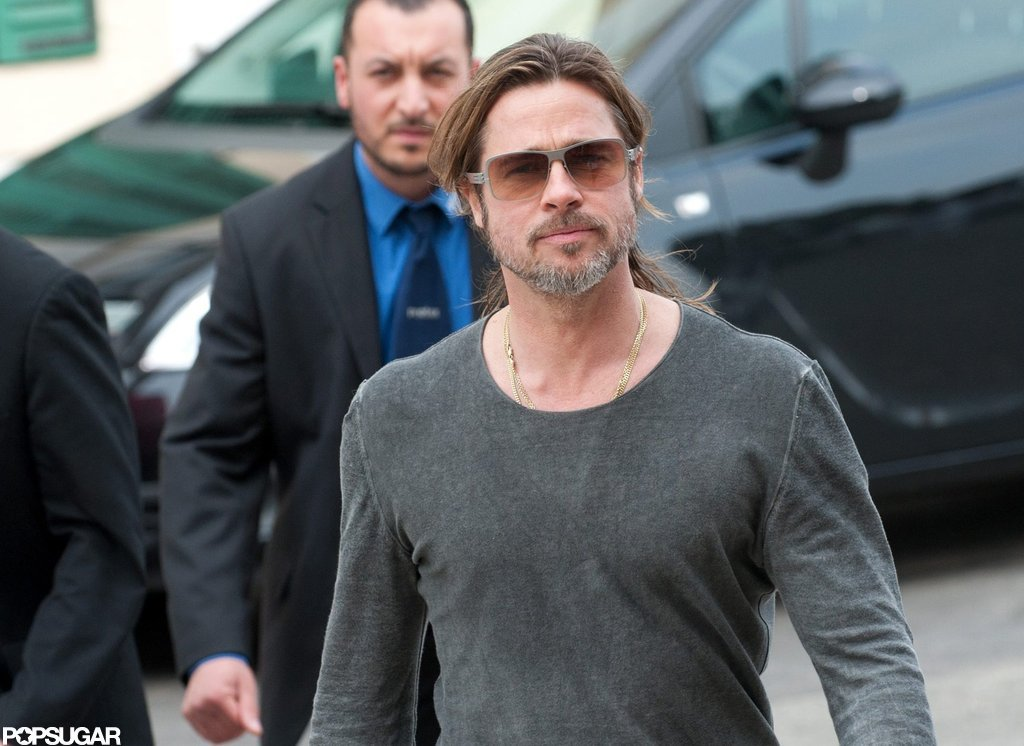 Brad Pitt strolled through Germany.