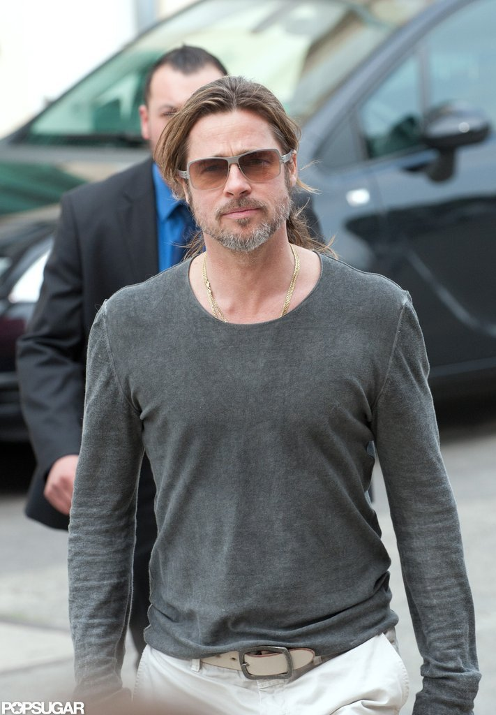 Brad Pitt rocked shades in Germany.