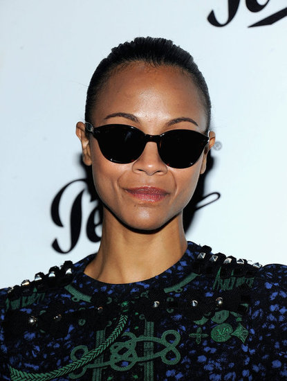 Zoe Saldana looked good in her sunglasses at the Persol Magnificent Obsessions event in NYC.