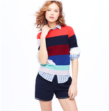 Pair this colorblocked striped top with a pencil skirt for a chic office look, or go bold and mix your prints for an eclectic Summer ensemble.  Creatures of the Wind For J.Crew Broken Stripe Sweater Tee ($195)