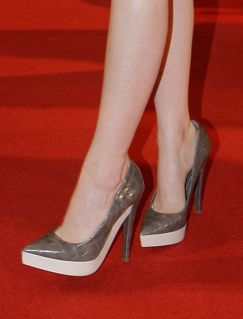 We can't get over how cool Emma's Stella McCartney pumps are.