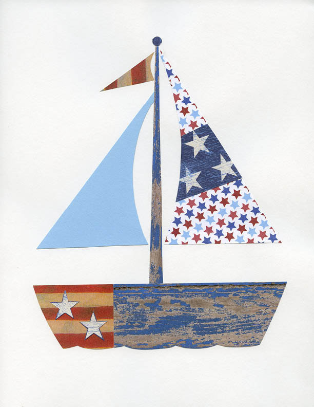 Patriotic Sailboat Print ($17)