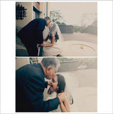 Aww, so cute! This dad made the bride laugh with his kisses. Photos by Chennergy Weddings via Style Me Pretty