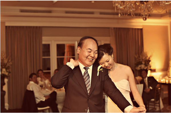 This was a sweet father/daughter dance. Photo by Mary Jane Photography via Style Me Pretty