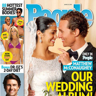 Matthew McConaughey and Camila Alves Wedding Picture