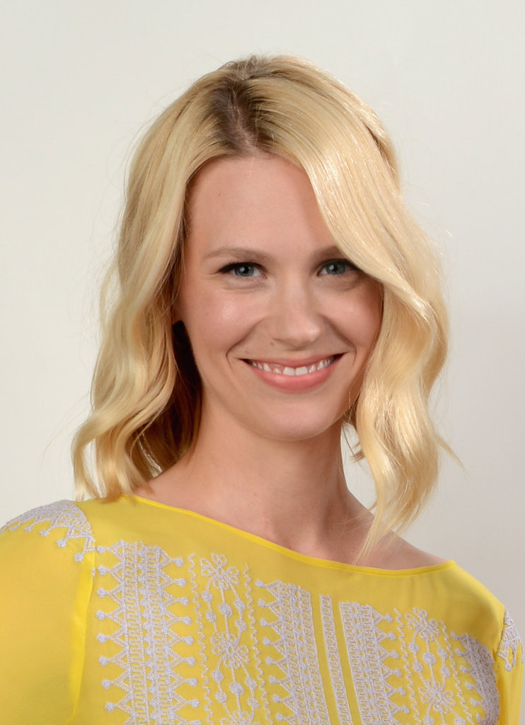 January Jones looked pretty in yellow at the Young Hollywood awards.