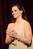 Penelope Cruz clapped at the LA premiere of To Rome With Love.