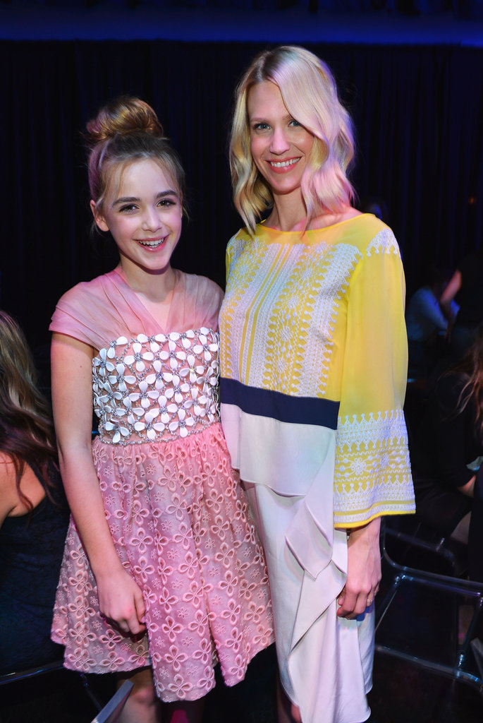 January Jones and Kiernan Shipka posed together.