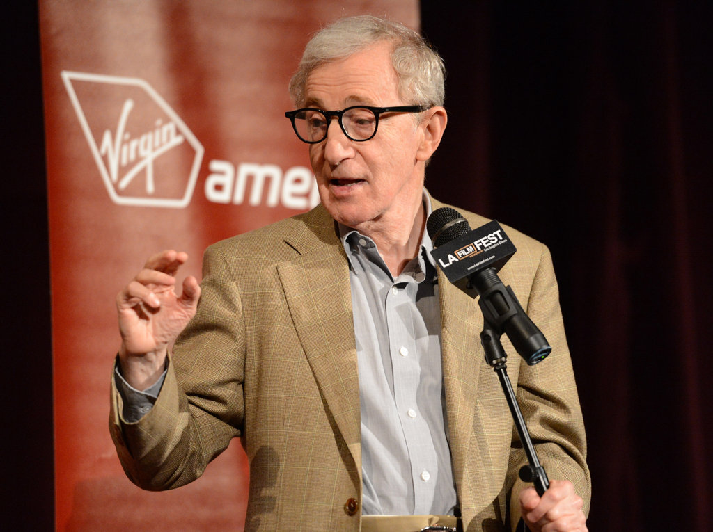 Woody Allen spole at the LA premiere of To Rome With Love.