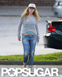 Blake Lively's stomach was showing underneath her sweater for a grocery shopping trip with Ryan Reynolds in New York.