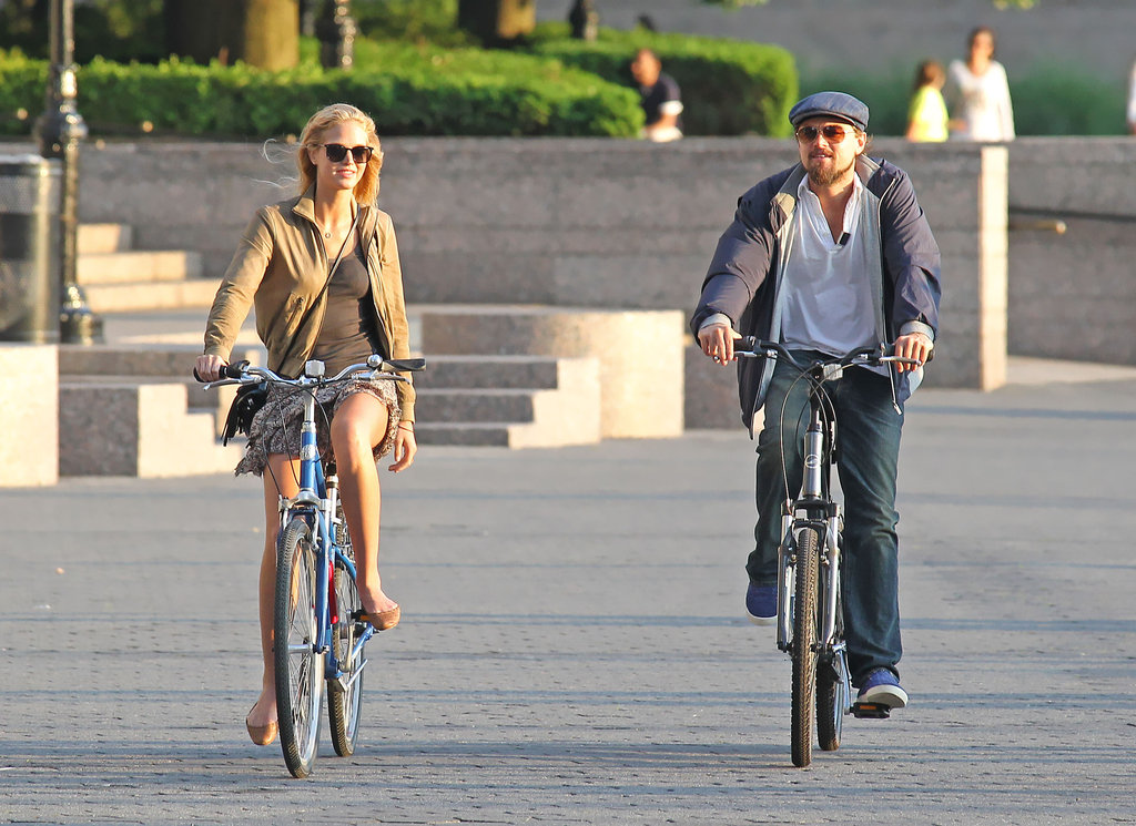 Leonardo DiCaprio and Erin Heatherton biked together on Thursday.