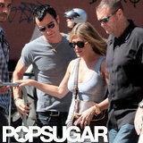 Jennifer Aniston and Justin Theroux walked around Rome.