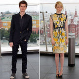 Emma and Andrew Bring Spider-Man and Bright Looks to Russia