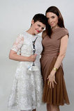 Ginniefer Goodwin and Whitney Cummings posed together.