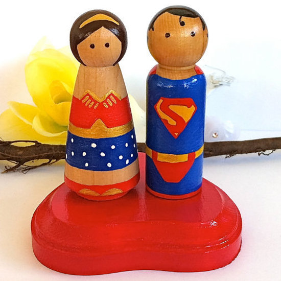 Bam! Give Your Big Day a Comic Book Spin With Superhero Cake Toppers
