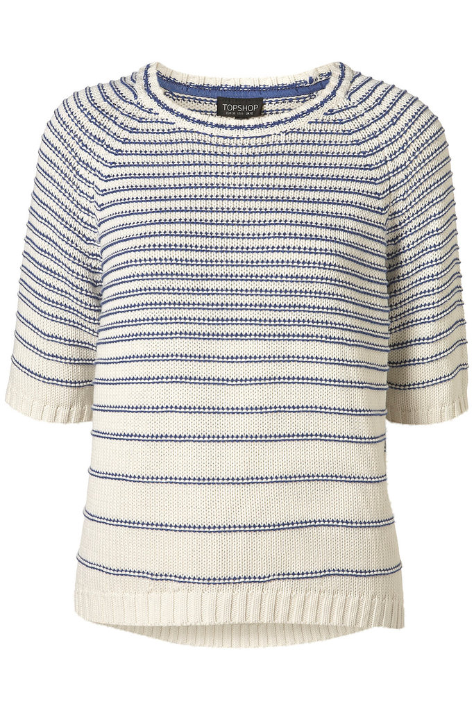 For cooler evenings, opt for this preppier take on stripes. Go a size larger for a looser, slouchier fit. Topshop Knitted Reverse Stripe Top ($35, originally $52)