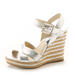 These espadrilles get a city-slick makeover with an attention-grabbing metallic that would work just as well on the beach as they would about town.