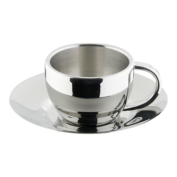 This sleek Stainless Steel Espresso Cup with Saucer ($10) will instantly make him feel more dapper while he drinks his morning coffee.