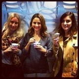 Ice cream for everyone! Alison, publisher Marisa and Sarah.