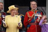 Prince Philip and Queen Elizabeth were together on the balcony at the Trooping the Colour ceremony in London.