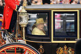 Queen Elizabeth wore yellow to the Trooping the Colour ceremony in London.
