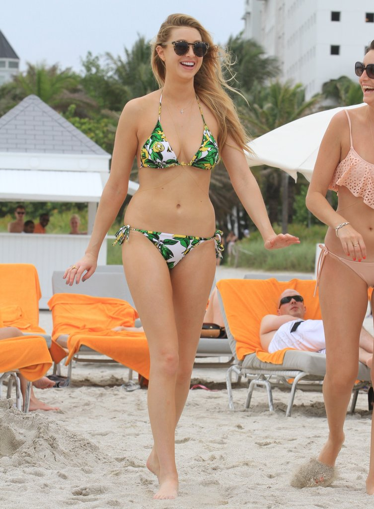 Whitney Port having fun with her friends at the beach.