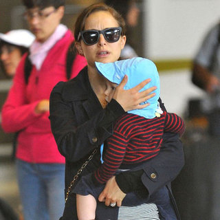 Natalie Portman and Her Family in Paris Pictures