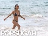 Julia Jones wore a bikini at the beach.