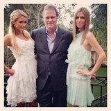 Nicky Hilton shared a photo with her sister, Paris, and their dad, Rick.  Source: Instagram User nickyhilton
