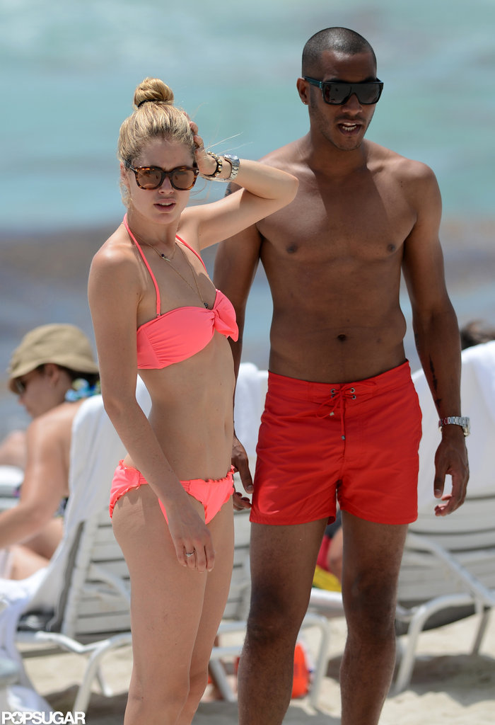 Doutzen Kroes wore a bikini in Miami.