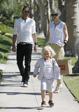 Gwen Stefani and Gavin Rossdale followed after son Zuma Rossdale in LA during a family afternoon.