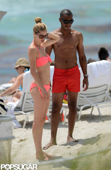 Doutzen Kroes wore a bikini with Sunnery James.