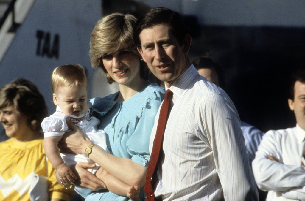 Prince Charles and Princess Diana posed with a young Prince William as they arrived at Alice Springs Airport in Australia in March 1983.