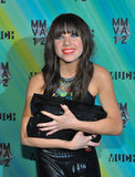 Carly Rae Jepsen held onto her awards backstage at the MuchMusic Video Awards in Toronto.