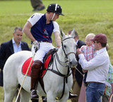 Prince William's first cousin, Peter Phillips, brought his daughter, Savannah Phillips, to a polo match in England.