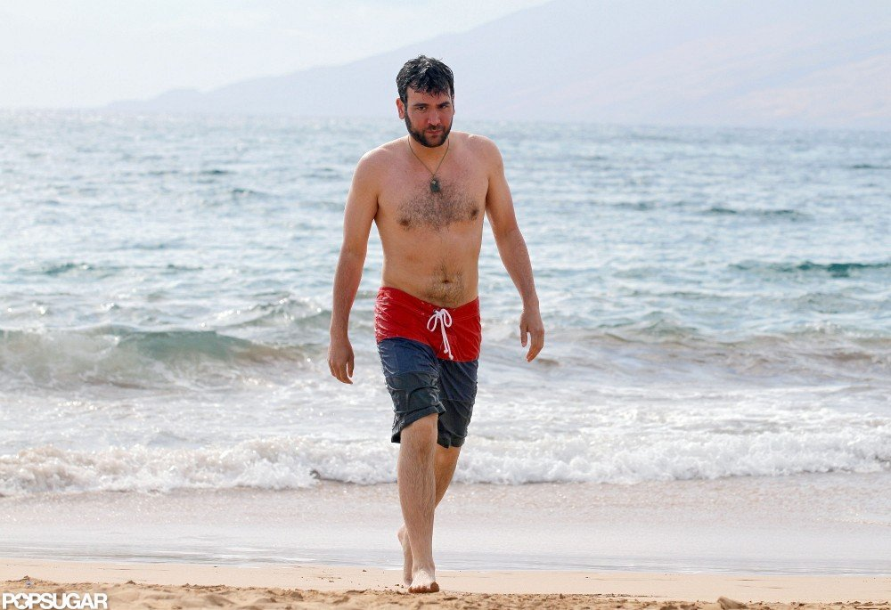 Josh Radnor was shirtless.