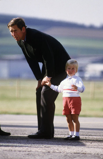 Prince Charles and Prince William boarded the Queen's Flight plane at Aberdeen Airport in Scotland in September 1984.
