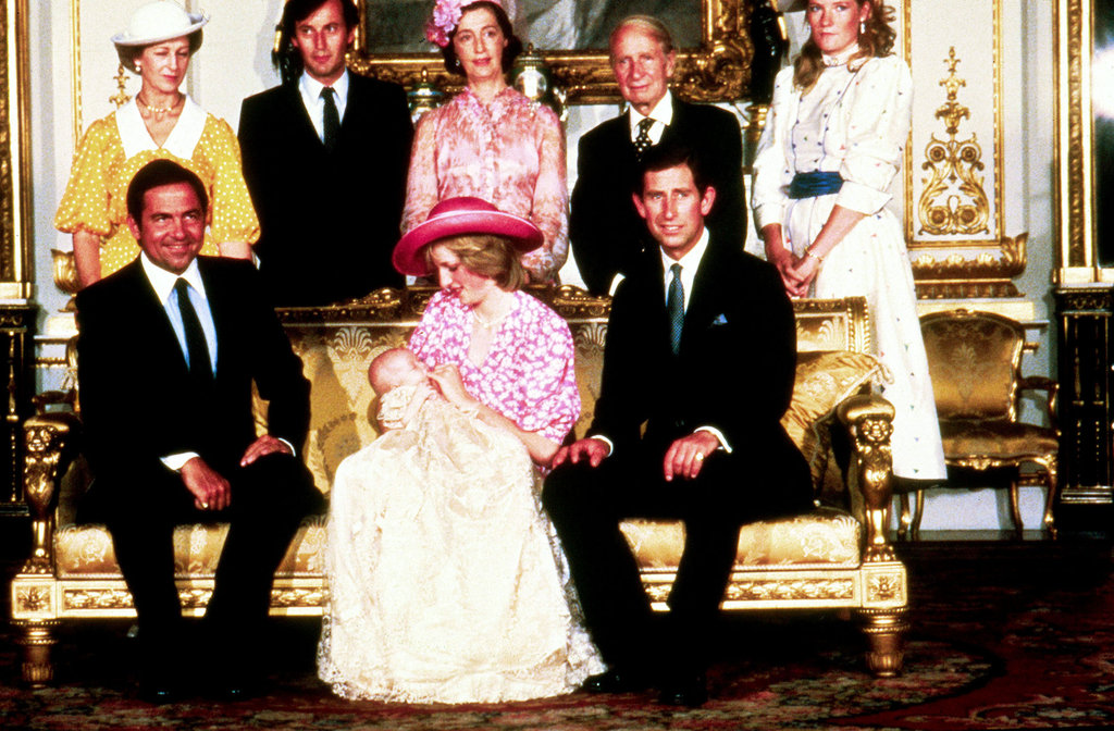 Prince William posed with mom Princess Diana, dad Prince Charles, and other members of the royal family at his christening on Aug. 4, 1982.