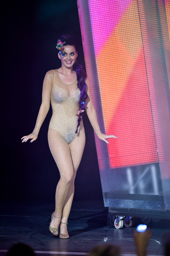 Katy Perry walked on stage in a nude bodysuit at the MuchMusic Video Awards in Toronto.