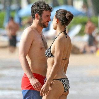 Josh Radnor Julia Jones Bikini PDA Pictures in Maui