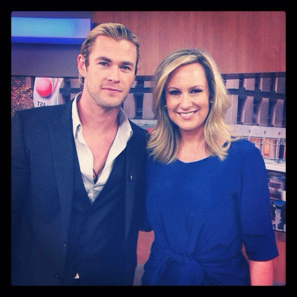Chris Hemsworth made an appearance on a morning talk show. Source: Instagram user chrishemsworth