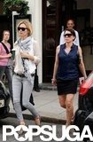 Kate Moss and Sadie Frost left lunch in Primrose Hill, London.