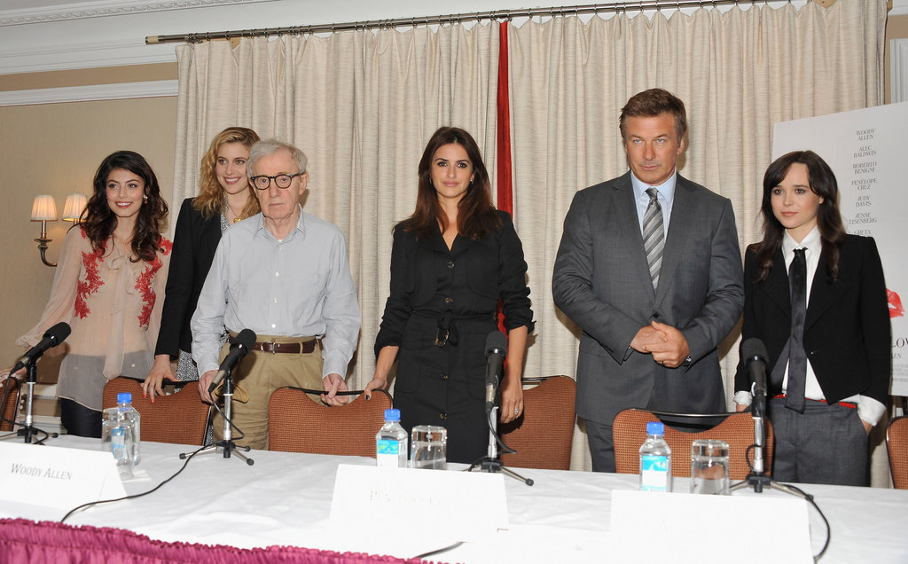 Alessandra Mastronardi, Greta Gerwig, Woody Allen, Penélope Cruz, Alec Baldwin, and Ellen Page were photographed at a To Rome With Love press event in NYC.