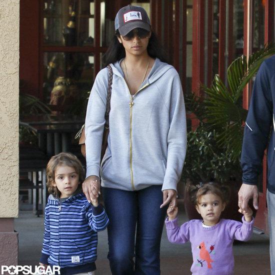 Camila McConaughey, Levi McConaughey, and Vida McConaughey held hands.