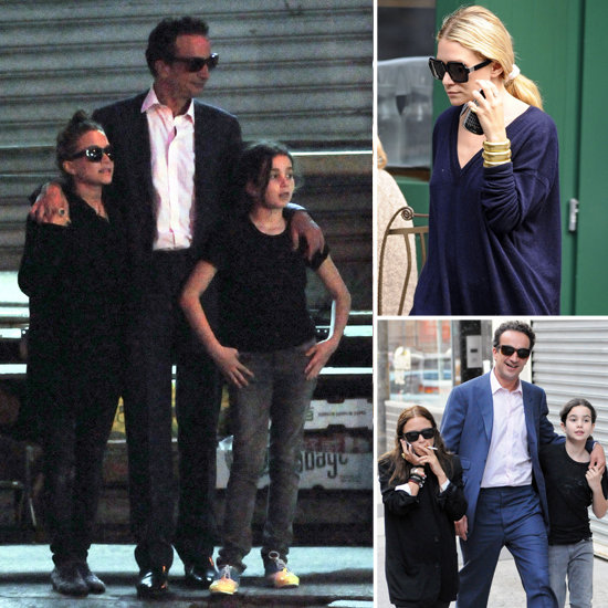 Mary-Kate Lunches With New Man Olivier and Does Dinner With Ashley