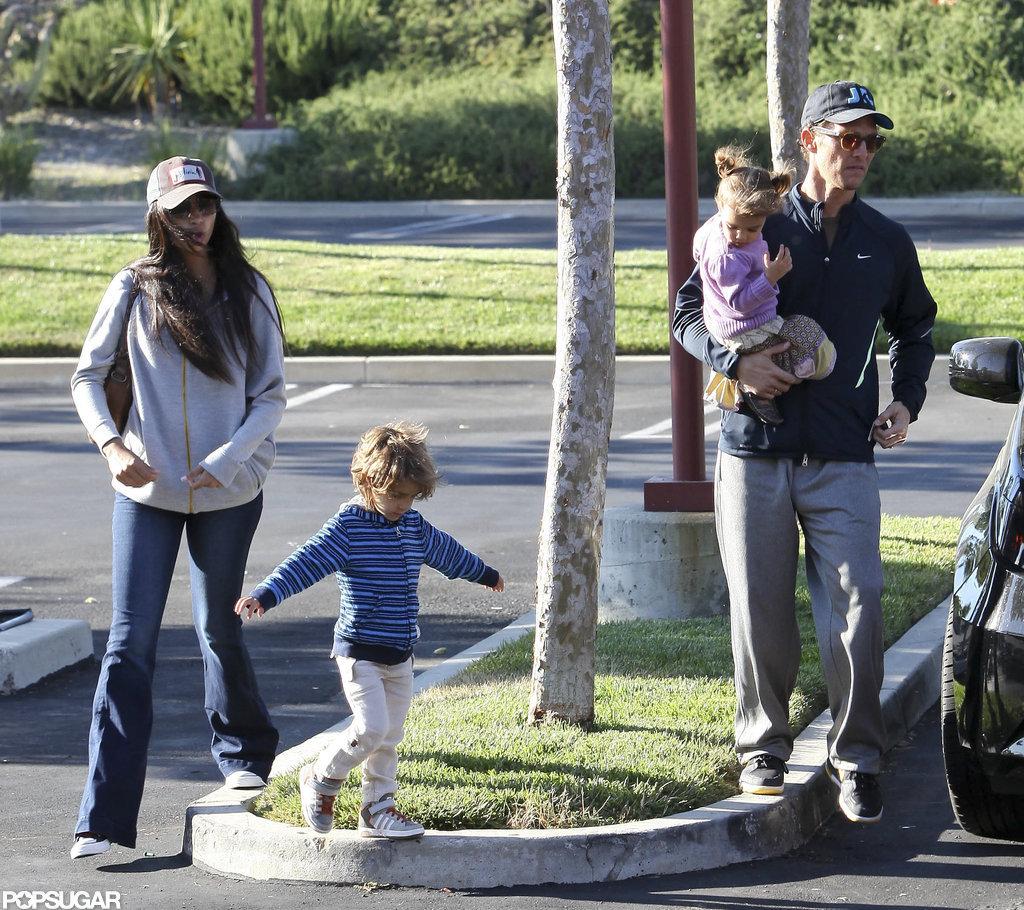 Matthew McConaughey, Camila McConaughey, Levi McConaughey, and Vida McConaughey hung out together.