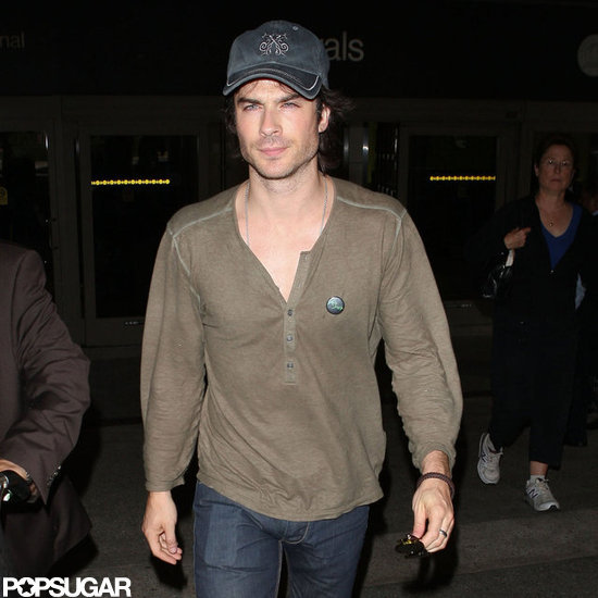 Ian Somerhalder arrived at LAX.