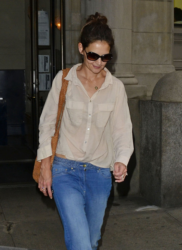 Katie Holmes went out for a day in NYC.
