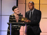 Ginnifer Goodwin and Donald Faison presented an award together at the Critics' Choice Television Awards in LA.