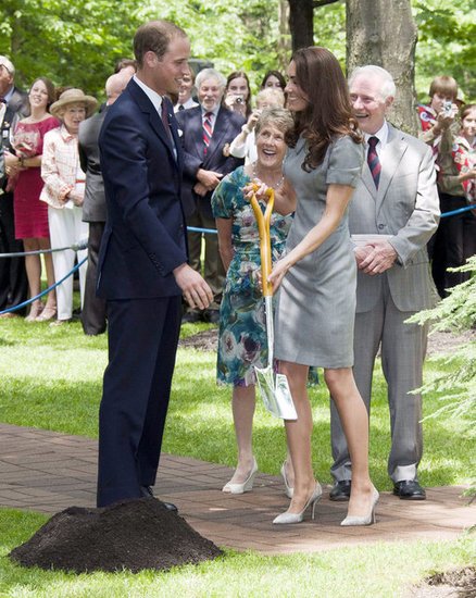 Prince William and Kate Middleton planted a tree together during their Canada trip in July 2011.